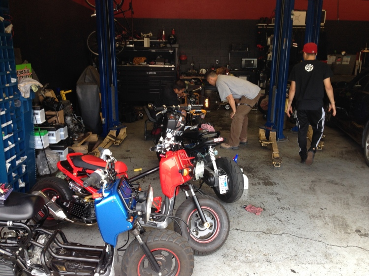 Getting the bikes ready for the long ride 4.24.14